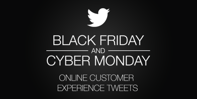 Black Friday and Cyber Monday Online Customer Experience Tweets